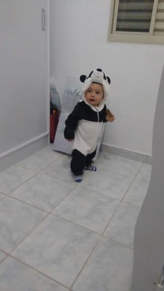 Macacão Pijama Fantasia Bebê Urso Panda Parmalat 24 Meses