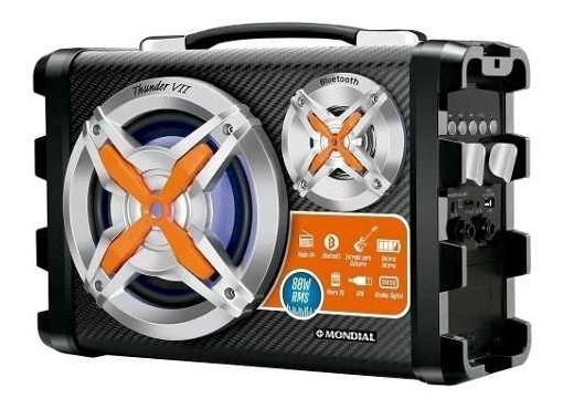 Caixa Rádio Fm Som Bluetooth Mp3 Amplificada Portátil Com Entrada P10