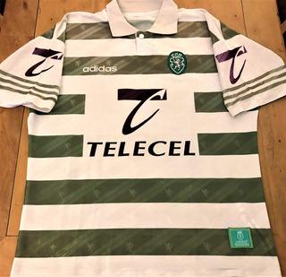 Camisa Sporting Lisboa 1995 Figo #7 Raríssima