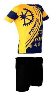 Conjunto Penks Velo Kids Infantil Camisa + Bermuda