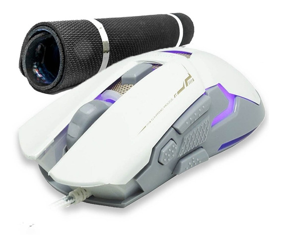Mouse Gamer 3000dpi 7 Cores Luz Led Double Click Com Brinde