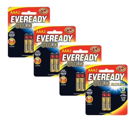Pilas Baterias Alcalinas Aaa 1.5v 4 Paquetes 2 Eveready Gold