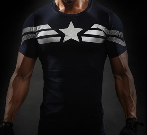 Camiseta Compressão Capitão America Soldado Invernal