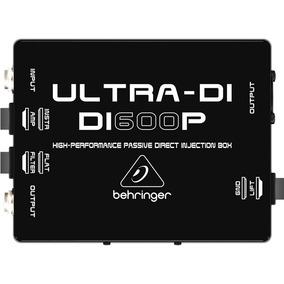 Direct Box Behringer Passivo Di600p Para Guitarra Baixo