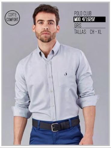 Camisa Polo Club Gris Top Hombre 4719207 Oggi 2-19 H