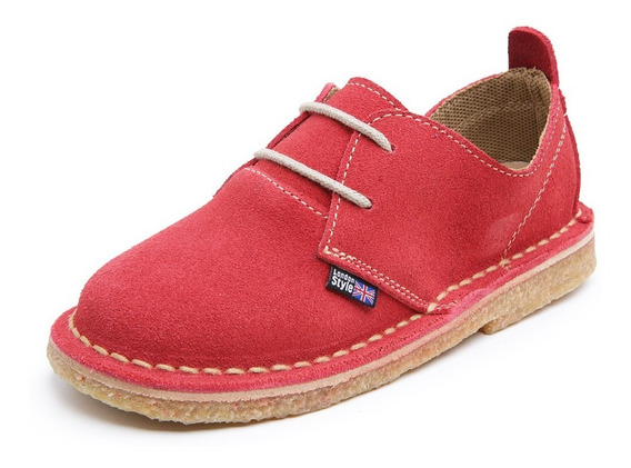 Sapato Safari Kids Infantil Em Couro Legítimo Estilo London