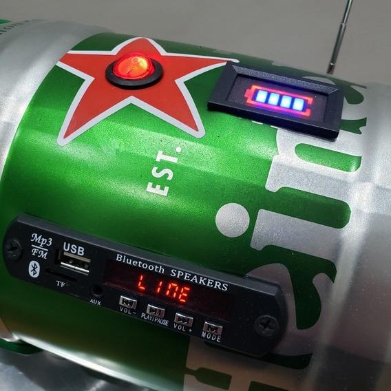 Caixa Som Mp3 Bluetooth Fm Cartao Memoria - Barril Heineken