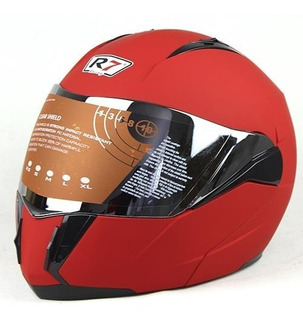 Casco Abatible R7 Racing 168 Certificado Dot Rojo Mate