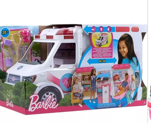 Carro Ambulancia De Barbie Con Sonido Y Luces Original