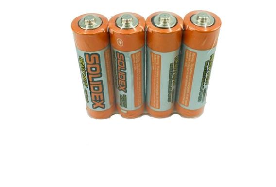 Pilas Aa Bateria Carbono Paquete 4 Solidex