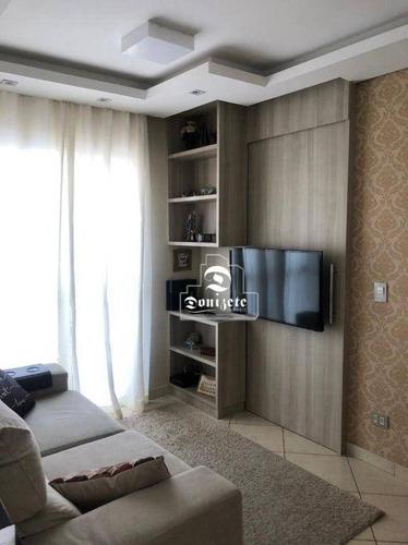 Imagem 1 de 18 de Apartamento Com 2 Dormitórios À Venda, 48 M² Por R$ 300.000,00 - Vila Palmares - Santo André/sp - Ap17438