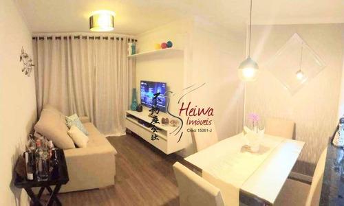 Apartamento Com 2 Dormitórios À Venda, 50 M² Por R$ 310.000,00 - Jardim Íris - São Paulo/sp - Ap0639