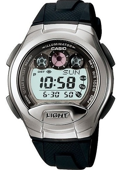 Relógio Casio W-755 Data Memory Com Senha 5 Alarmes Wr100 Pt