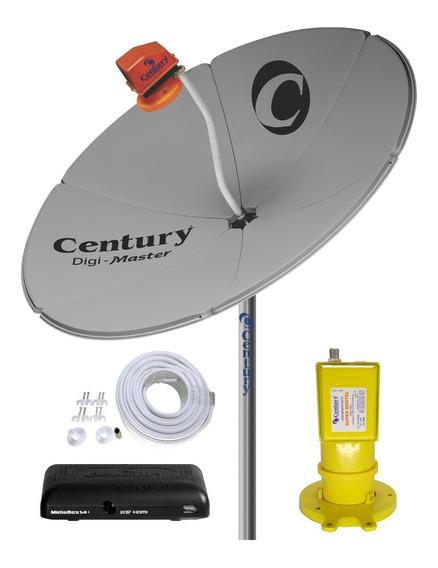 Parabólica Digital 1,5 Chapa Century+rec.dig.midia Box B3 Hd