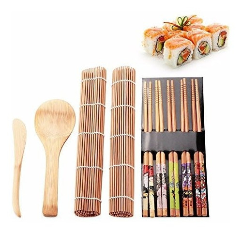 Kit De Fabricacion De Sushi Set 9 Piezas-esteras De Sushi Pa