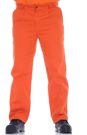 Pantalón De Trabajo 40 A 50 (naranja, Blanco, Marron, Azul)