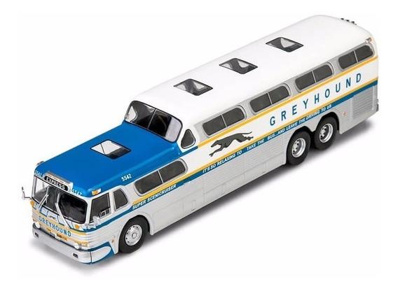 Miniatura Ônibus Greyhound Scenicruiser 1956 - Escala 1/43