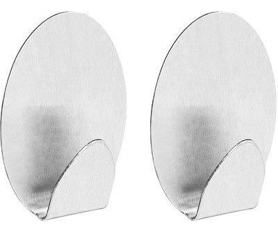 Conjunto 2 Ganchos Oval M Aplik 30652 Ordene Metálico