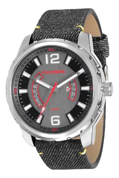 Relógio Masculino Mondaine Pulseira Jeans Preto 99090g0mvnh1