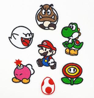 Parche Bordado Termoadherible Mario Bros