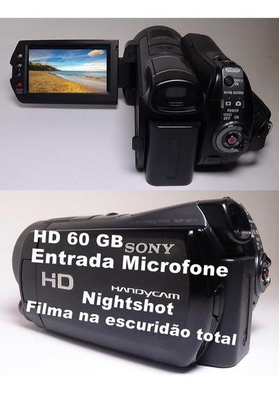 Filmadora Sony Hdr-sr11e Entrada Microfone Nightshot