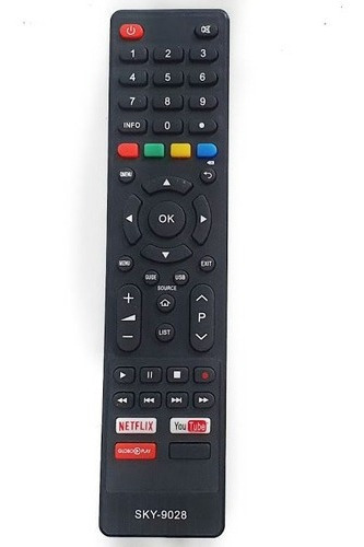 Controle Tv Philco Smart Tecla Netflix Globo Play You Tube