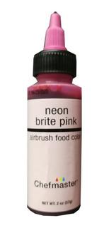 Colorante Neon Liquido Rosado Pink 2 Onzas 60 Ml Chefmaster