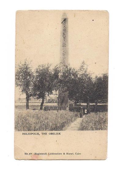 Antigua Postal Foto Heliopolis Obelisco El Cairo Egipto 552