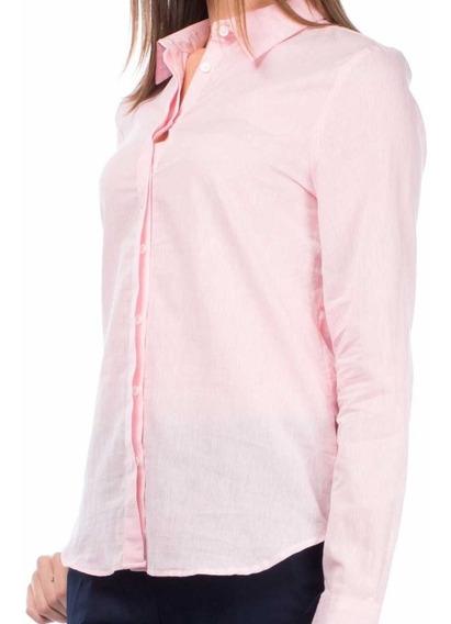 Camisa Rosa Mujer Mangas Largas Impecable! Temporada Actual