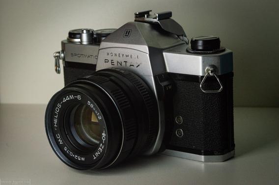 Camera Analógica Pentax Spotmatic Honeywell + Objetiva Helio