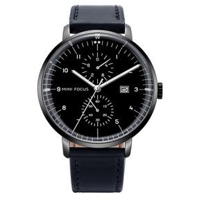 Mini Focus Negocios Hombres Simple Pu Correa Reloj De Reloj