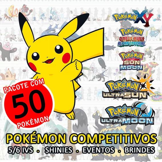 Pokémon Usum Sm (competitivos, Shiny, 6 Ivs) - Pacote 50 Uni