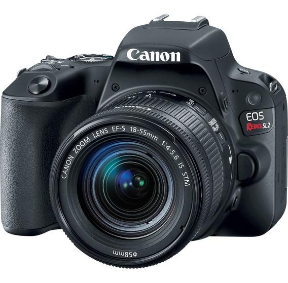 Câmera Canon Eos Sl2 18-55mm Is Stm Com Nota Fiscal Rev Auto