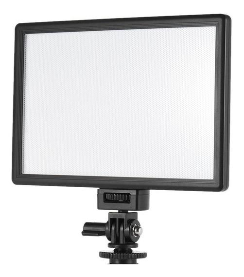 Iluminador Led Stúdio Para Foto E Vídeo Youtube C/ Fonte