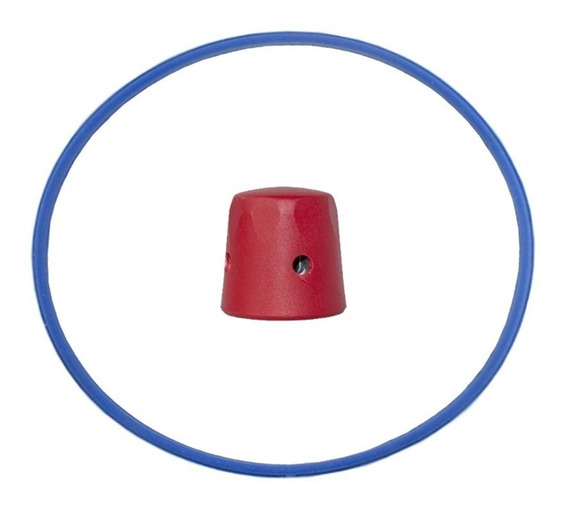 Peso Panela Pressão Vermelho + Borracha Universal 4,5l #4544