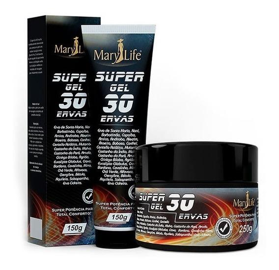 Kit 12 Super Gel 30 Ervas - Mary Life Efeito Gelo & Quente