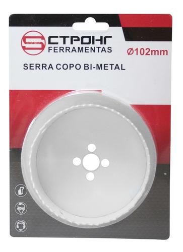 Serra Copo Metal E Madeira 102mm (bimetal) + Suporte 5/8(a2)