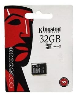 Cartao De Memoria Kingston Micro Sd 32gb Class 10 - Preto