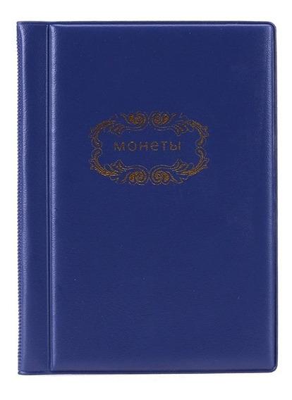 Azul - 120 Bolsos Moedas Album Collection Book Mini Moedas D