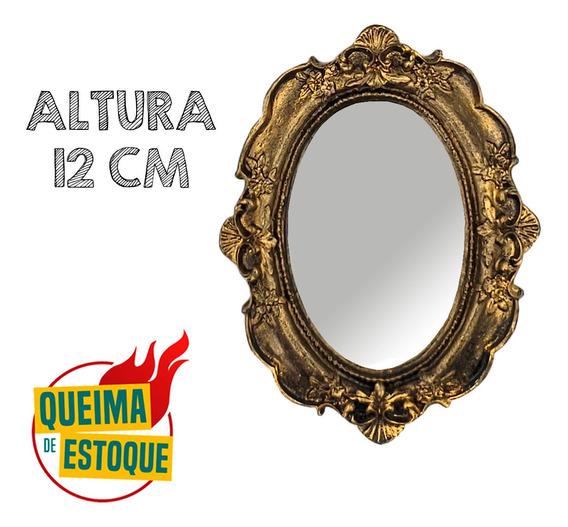 2 Moldura Resina Espelho Parede Decorada Enfeite Presente Qm