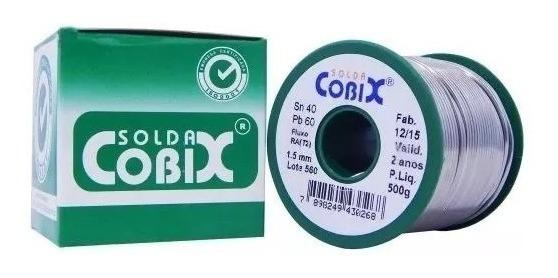Solda Estanho Cobix Verde 500gr 40x60 Fio 1,5mm