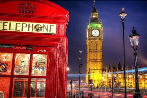 Painel Festa Lona Aniversário 15 Anos Tema Londres Cabine