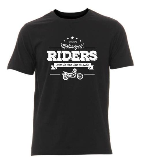 Camiseta Bobber Motocicleta Estampa Branca - Masculina