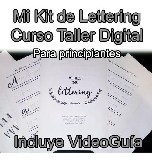 Kit Curso Taller Imprimible - Lettering Nivel Principiantes