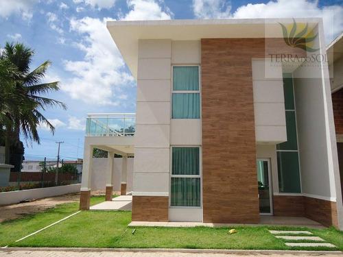 Imagem 1 de 30 de Casa Duplex Com 3 Suítes Em Condomínio Com Lazer Completo No Eusébio. - Ca0167