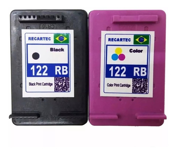 Kit Cartucho 122 Preto Color Para Impressora Deskjet 2050