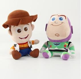 Conjunto Bonecos De Pelucia Toy Story Wood E Buzz Brinquedos
