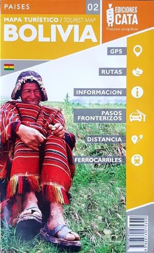 Mapa Rodoviário E Turístico Impresso Bolívia