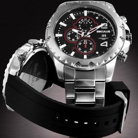 Kit Relógio Séculus Cronográfo Masculino 20604g0svns1
