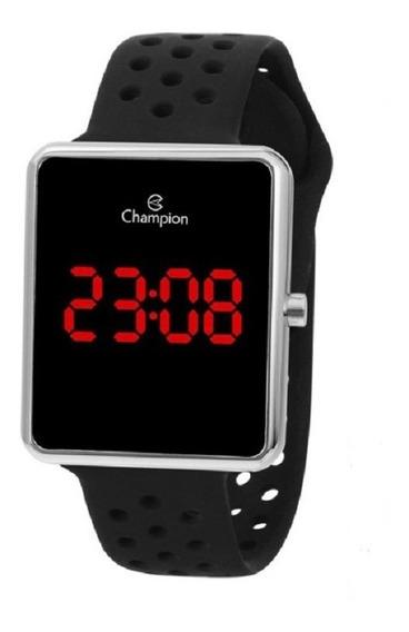 Relógio Champion Unissex Digital Led Ch40081t Prat Quadrado